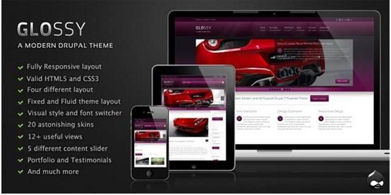 35 Free and Premium Responsive Drupal 7 Themes