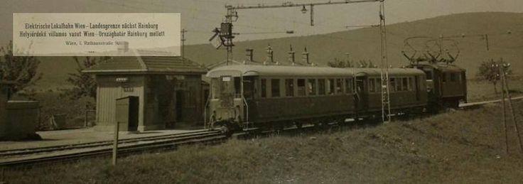 Hraničný prechod Petržalka -Berg, električka do Viedne okolo roku 1928