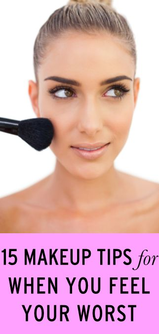 Easy makeup tips for when you're feeling your worst #makeup