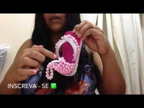 Rasteirinha de pérolas para bebê parte 1 - YouTube