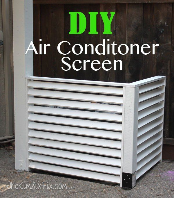 Hide your A/C with a louvered screen.