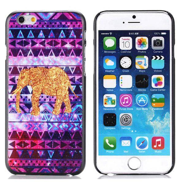 Gouden olifantjes Aztec hoesje voor iPhone 6 Plus