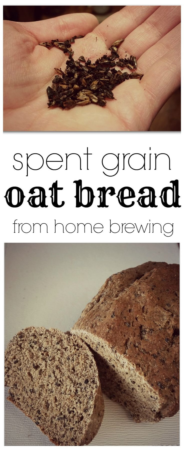 Perfect for home brewing and using those spent grains - Spent Grain Oat Bread!