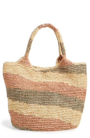 Straw Studios Colorblock Straw Shoulder Bag available at #Nordstrom