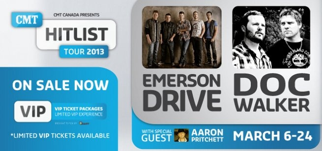CMT Hitlist Tour | CMT.ca  with Aaron Pritchett, Doc Walker and Emerson Drive