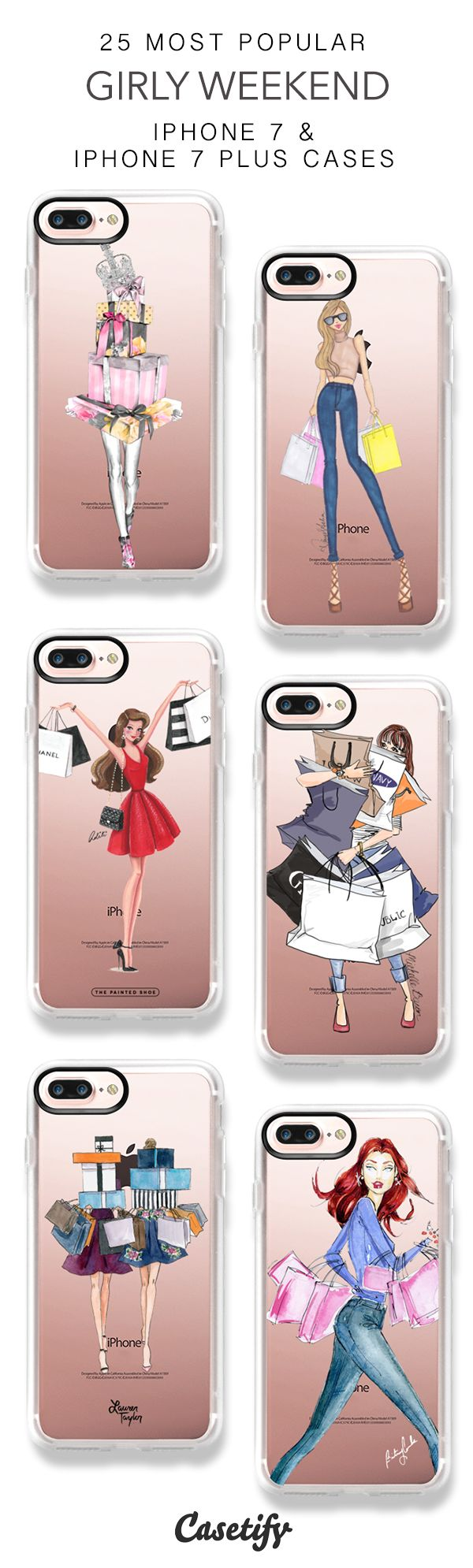 25 Most Popular Girly Weekend iPhone 7 Cases and iPhone 7 Plus Cases. More Shopping iPhone case here > https://www.casetify.com/collections/top_100_designs#/?vc=o7qr9rD0UO