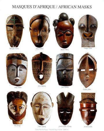 studying african masks 3rd grade  masks art african