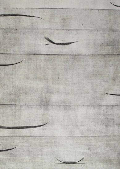 Simon Kaan, Untitled Series 11-I, intaglio woodcut on 1000 x 710 mm paper, 1 of 1, 2011. Sold.