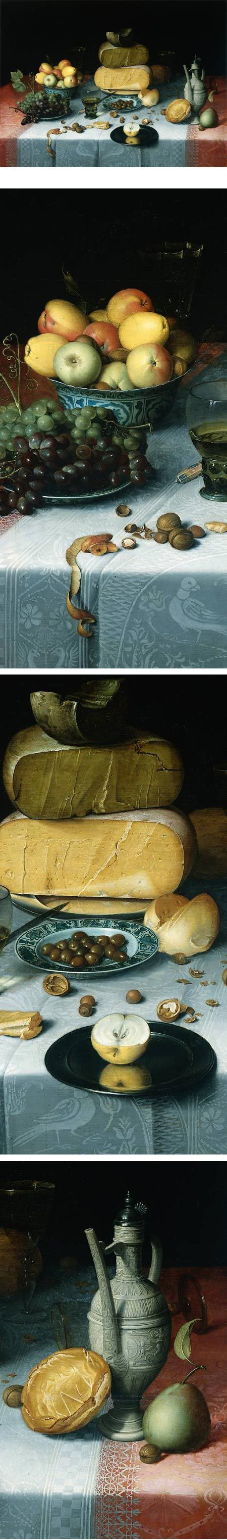 Detail from: Still Life with Cheeses by Floris van Dijck (1615-1620). Rijksmusum.: