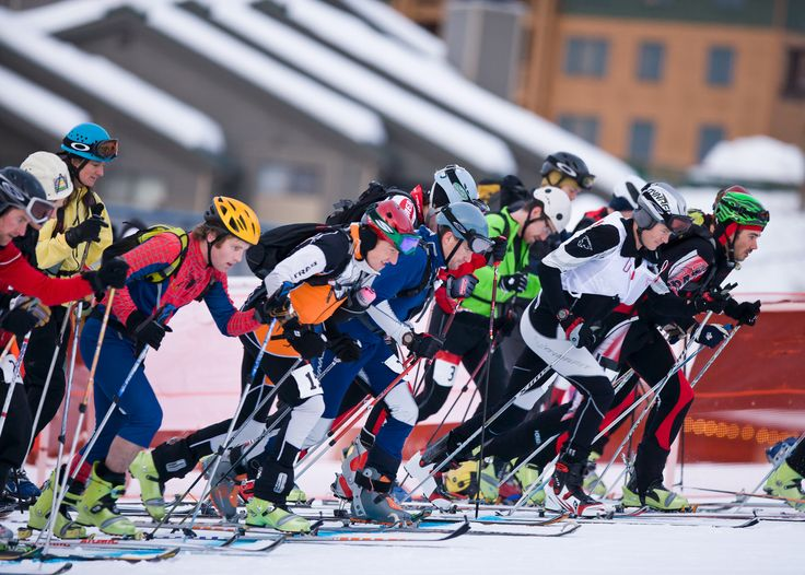 Big Sky Journal - Competitors at the start of the annual #Whitefish Whiteout race at Whitefish Mountain Resort, first climb is 640 vertical meters. #Montana #Outdoors #ski