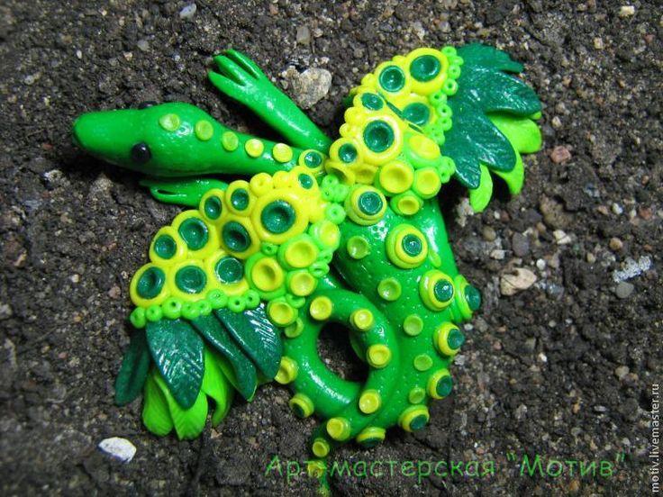 Мастер-класс по лепке: лесной дракон из полимерной глины - Ярмарка Мастеров - ручная работа, handmade