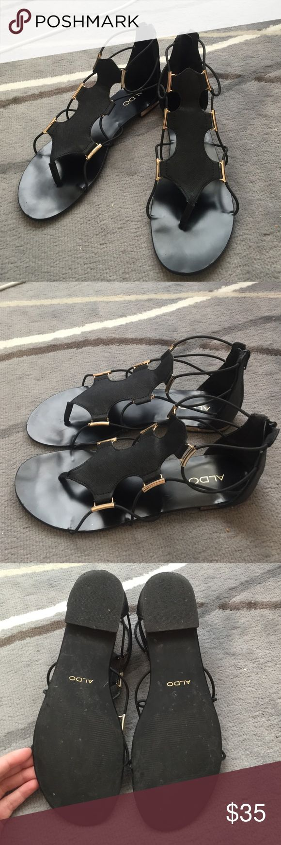 ALDO Zeanna Gladiator Flat Sandals ALDO Zeanna Gladiator Flat Sandals. Gently used condition. Aldo Shoes Sandals