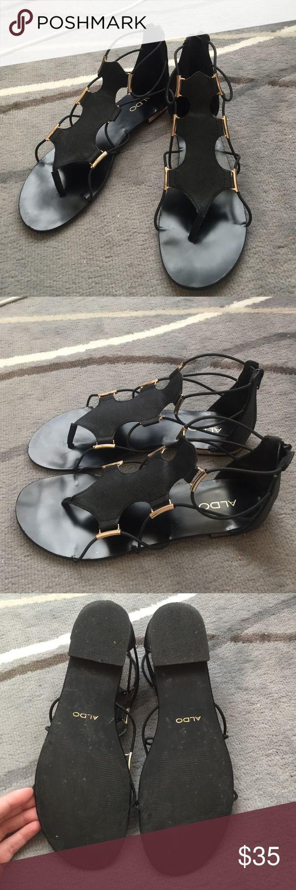 ALDO Zeanna Gladiator Flat Sandals ALDO Zeanna Gladiator Flat Sandals. Gently used condition. Aldo Shoes Sandals