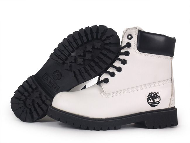 Black and White Timberland boots