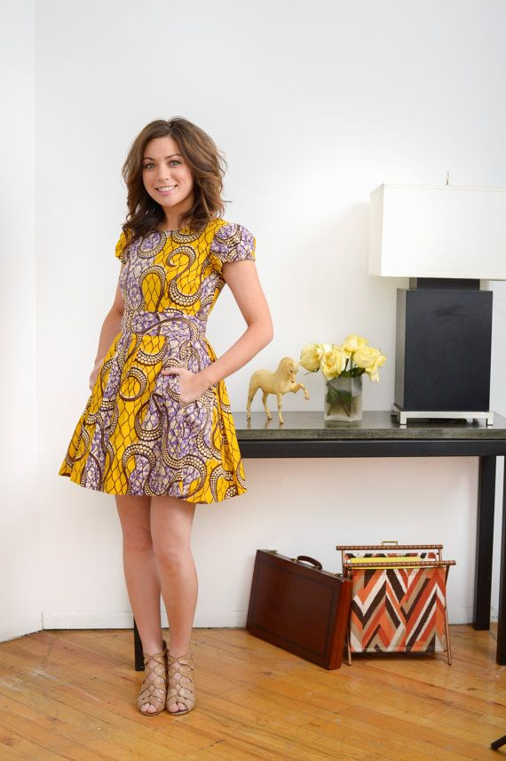 LiLi is a Vibrant Ankara African Print Dress by LiLiCreations