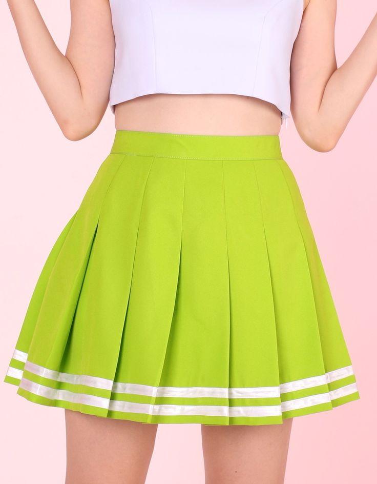 GFD Green Cheerleading Skirt