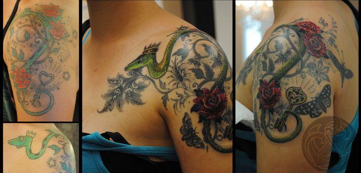 Snake Victorian Style by RosaroterPanda.deviantart.com on @DeviantArt