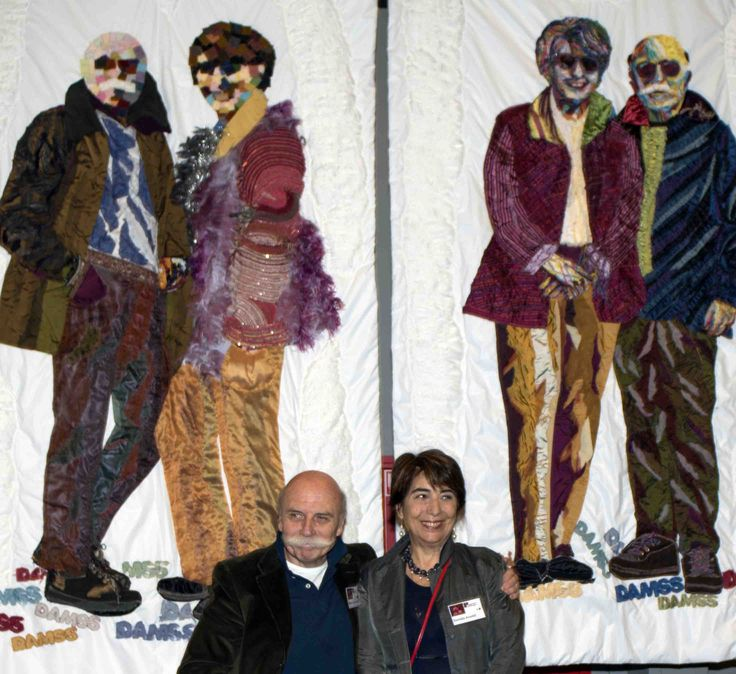 Art Quilts by Daniela Arnoldi & Marco Sarzi Sartori (DAMSS);  at the Open European Quilt Championships in 2014