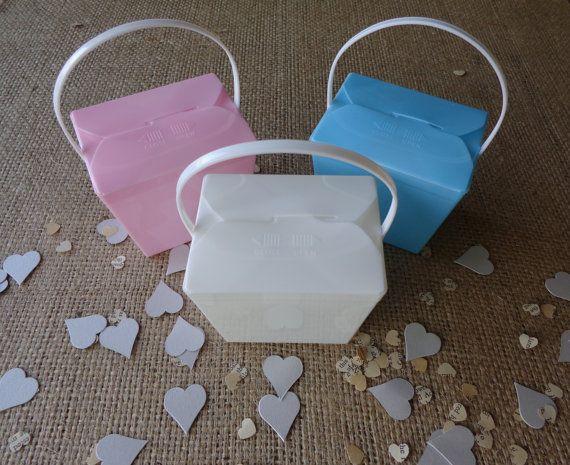 Bomboniere Boxes Jelly Pails Plastic Noodle Boxes by CreateTheDate, $57.60