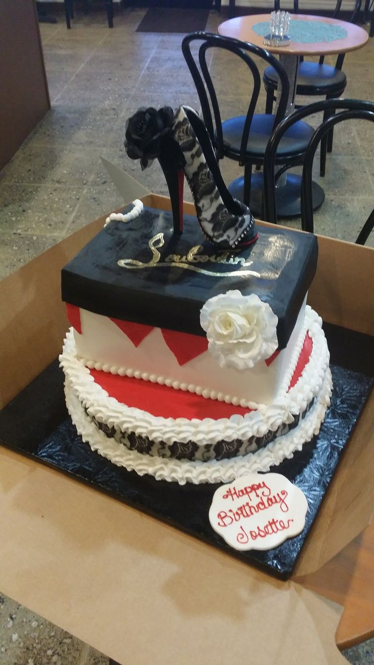 Loubutin Shoe Box Cake by Brown Sugar Gourmet Desserts