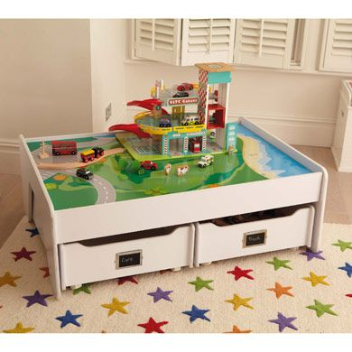 multipurpose play table white toy boxes toy storage storage kid stuff. Black Bedroom Furniture Sets. Home Design Ideas