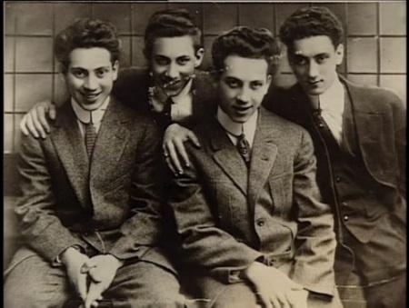 Young Marx Brothers: Arthur (Harpo), Milton (Gummo), Leonard (Chico) and Julius (Groucho)