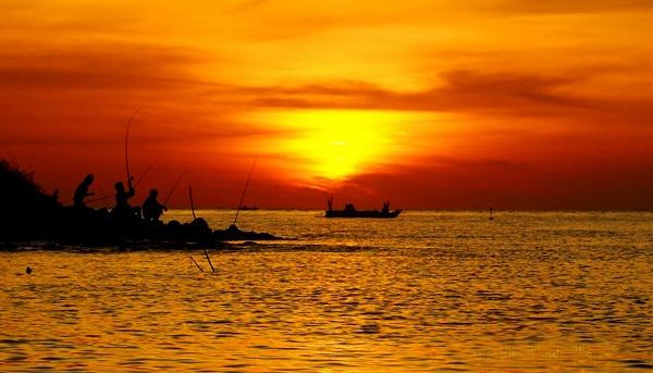 Barombong beach, Makassar - Indonesia.