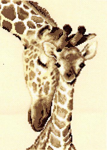 cross stich | Giraffe Family Cross Stitch Kit 200275444