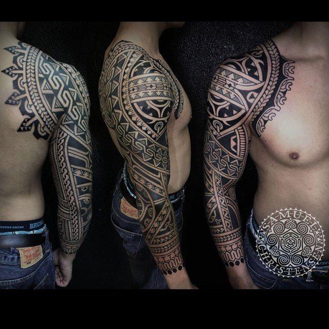 #samuelchristensentattoo #blackwork #blacktattoo #tattoo #ink #art #blackink #tattooartist #ravensburg #freehandtattoo #polynesiantattoo #samoantattoo #maoritattoo #maori #südseetattoo
