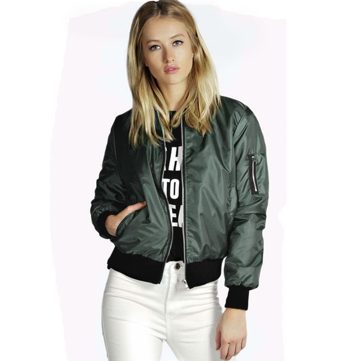 Women Bomber Jacket Casual Long Sleeve Spring | Dresscab