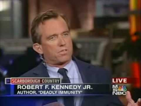 "Robert Kennedy on the Vaccine Autism Coverup - *** A POWERFUL Video to watch about the effects on children's vaccines *** The sad part is Robert Kennedy Jr, JFK nephew,  died in a bizarre ski accident, hmm-mm  !!!! Teddy Kennedy ""the liberal democrat"" didn't die in an freakish accident !!!"