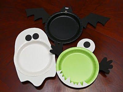 diy easy plates using paper plates, foam paper, scissors and hot glue