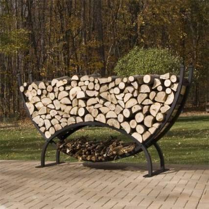 Wood storage rack firewood wheels 60+ ideas | Outdoor ...