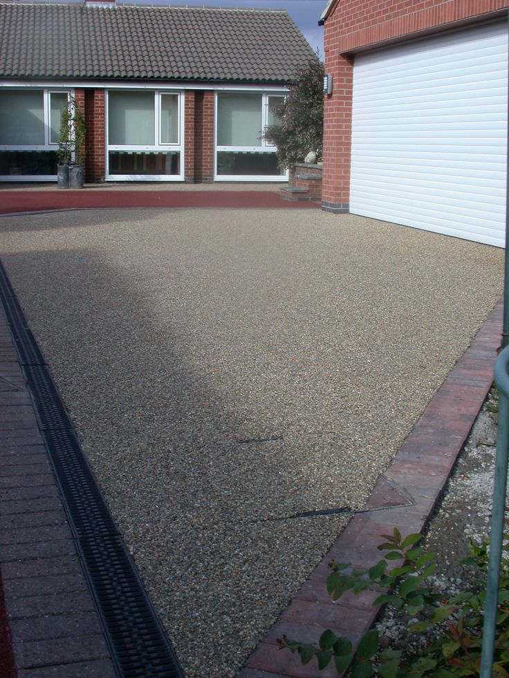 As Metal Slag Driveway : Resin bonded stone project by drive cote ltd with block