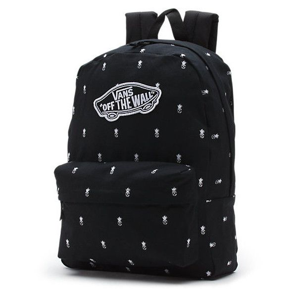 Realm Backpack ($38) ❤ liked on Polyvore featuring bags, backpacks, black pineapple, rucksack bag, vans backpack, vans bag, pineapple bag and day pack backpack