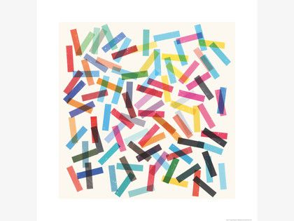 FIESTA MULTI-COLOURED Paper 60 x 60cm print by Garima Dhawan - HabitatUK
