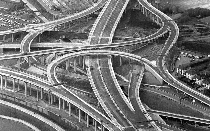 The Gravelly Hill Interchange, aka Spaghetti Junction, Birmingham.  (Image: Telegraph.)