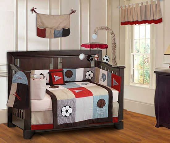 sport crib bedding sets for baby boys  http://www.rizvilia.com/sports-crib-bedding-for-boy-and-girl/sport-crib-bedding-sets-for-baby-boys-image-6/