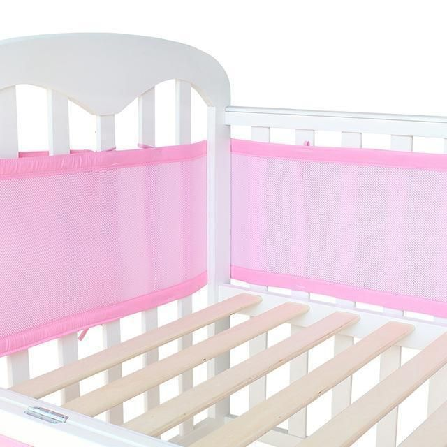 Baby Bed Bumper Breathable Mesh Crib Bumpers Baby Bedding 3 Layer Crib Liner Baby Cot Bed Around Baby Cot Bedding Mesh Crib Bumper Crib Liners