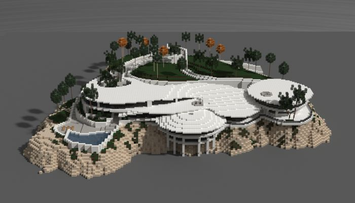 Iron man mansion i made in minecraft schematic download for Minecraft big modern house schematic