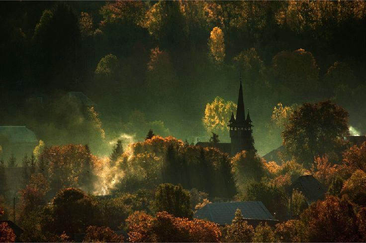 templom hajnalban