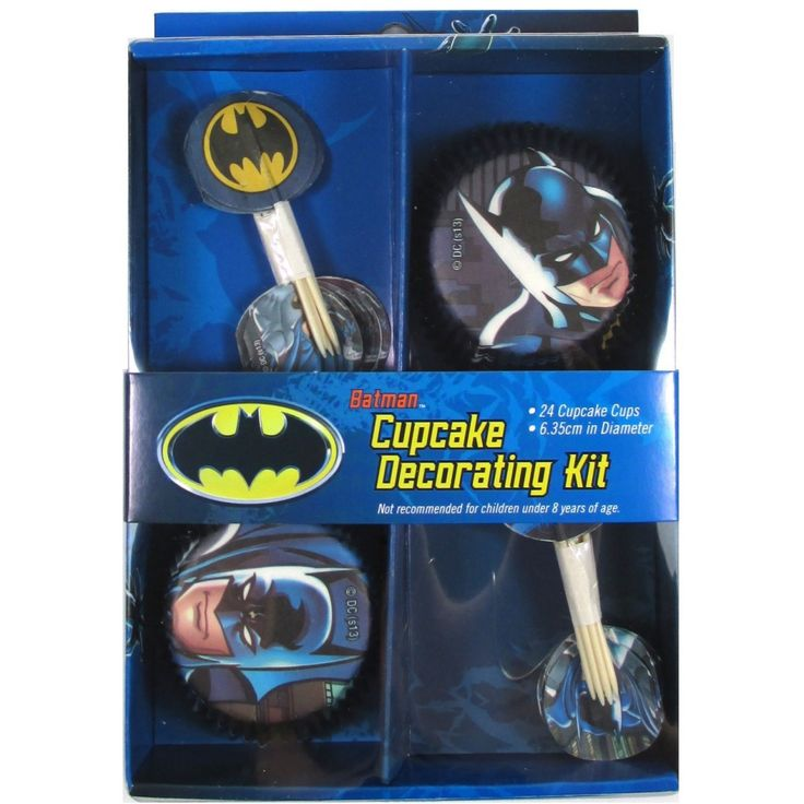Let's Party With Balloons - Batman Cupcake Decorating Kit, $11.00 (http://www.letspartywithballoons.com.au/batman-cupcake-decorating-kit/)