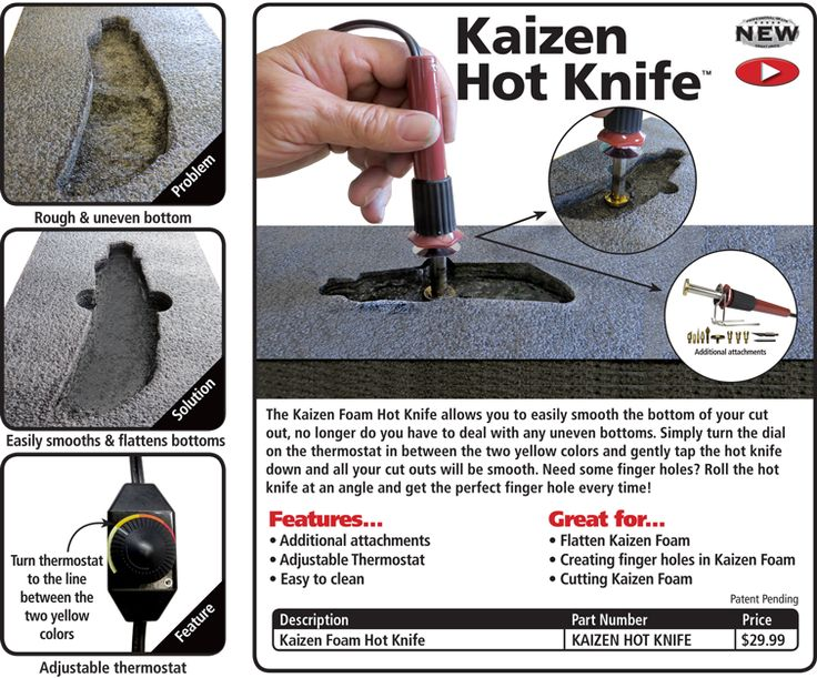FastCap Kaizen Foam Hot Knife Kit | Kaisen foam inserts for tool boxes and other cases