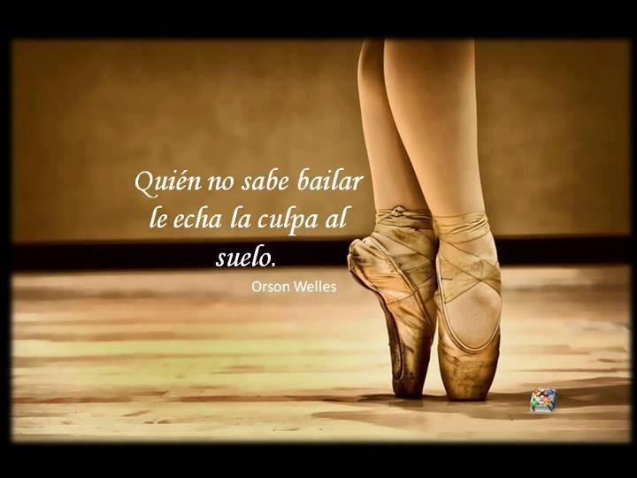 Quien no sabe bailar.
