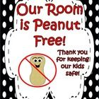 "This product contains ""Peanut Free"" signs in a variety of colors to go with your classroom decor. They are meant to indicate that your classroom is..."