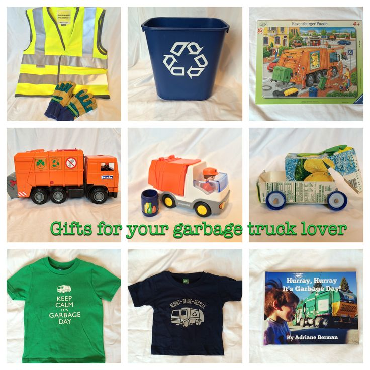Gift ideas for your garbage truck lover from garbagetrucklove.com