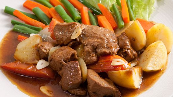 Bestik stew with sliced potatoes, carrots and beans are our mainstay menu.. More info : 0813 2830 5569