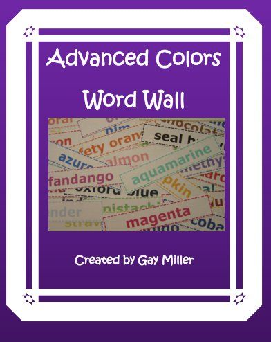 Do your students know the difference between fuchsia and chartreuse? Here are some ways to have a little fun with this **free** colorful word wall.