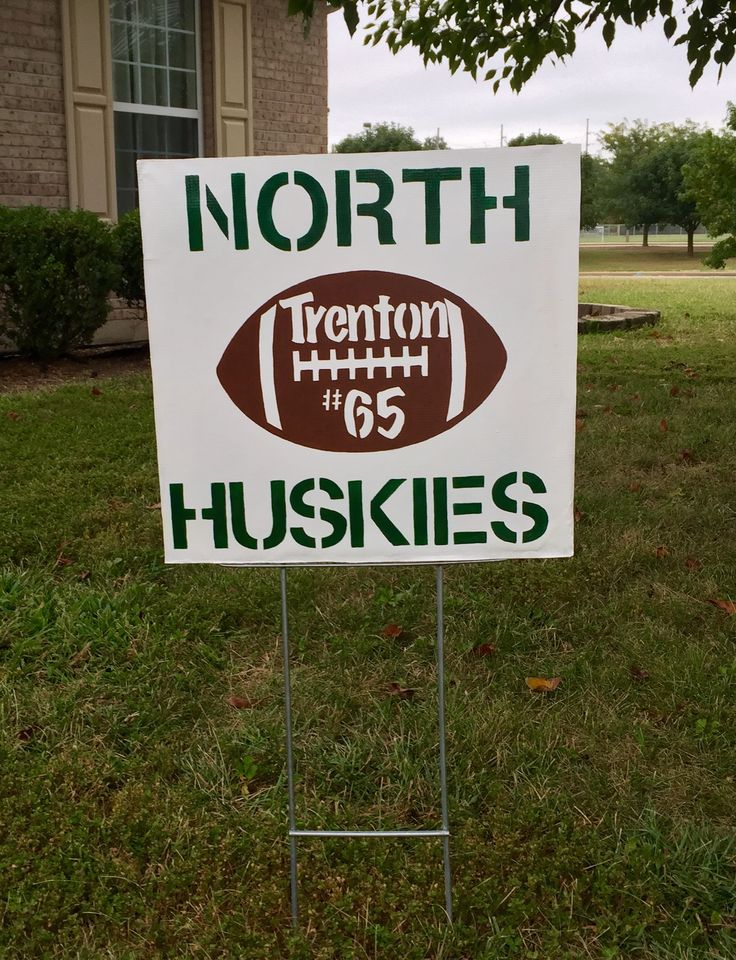 High school football yard sign