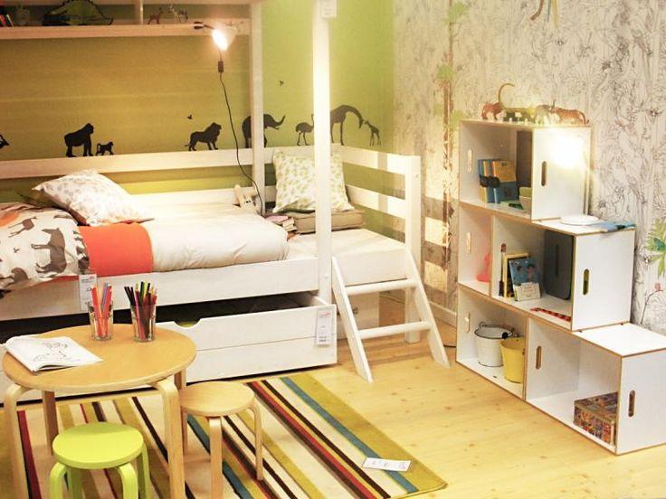 Kids room storage BrickBox: Stores it all! #vinyl #vinylstorage #bookcase #display #design #interiordesign #brickbox #brickboxusa #modmobili #midcentury #midcenturydesign #modularstorage